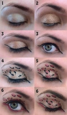 Love Leopard Print Eyeshadow by scentsa in sephora using Primer Potion by Urban Decay Old Gold by MAC Liquif Eye by Too Faced Pearly Rosewood 132 by Make Up For Ever Leopard Eyes, Leopard Makeup, Animal Makeup, Best Mac Makeup, Makeup Tips, Makeup Ideas, Makeup Themes, Clean Makeup, Makeup Inspo