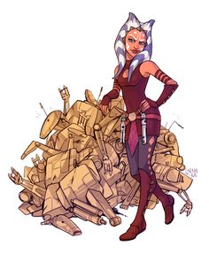 Ha! I got 102! Bet you can't beat that Skyguy! ~ Anakin and Ahsoka's little on-going competition of who can scrap the most clankers!