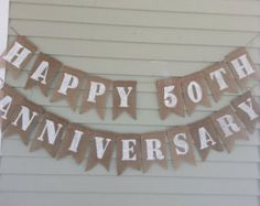 Custom Happy Anniversary Banner Golden by CustomPaperMemories