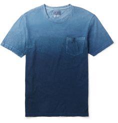 Blue Blue Japan Slim-fit DÉgradÉ Cotton-jersey T-shirt Mens Trends, Menswear, Mens Fashion, Tees, Slim, Indigo, Cotton, Mens Tops, T Shirt