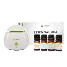 Essential Set | 4 bottles | 0.17 fl oz each| Get ready to boom, chill, defend, and clear with the It Works! Essential Oils!