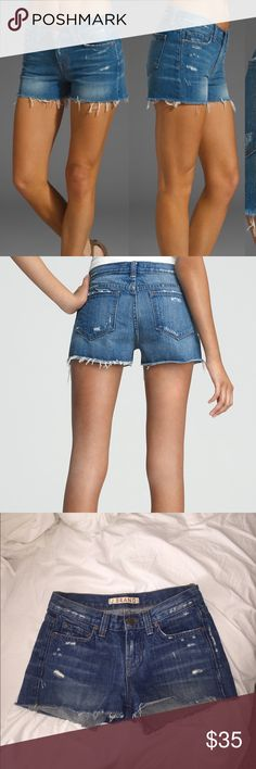 """⚡️FLASH SALE ⚡️J Brand Libra Cutoff Shorts Distressed cutoff shorts. Perfect condition! They are quite small, fit a 23"""", they are labeled as a 24 but J Brand runs small J Brand Shorts Jean Shorts"""