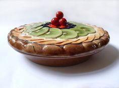 Majolica Pie Dish Stunning Vintage Fruit Pie Dish With Lid & sagaform pie plate | Kitchen + Food | Pinterest | Baking dishes Pie ...