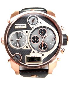 Diesel Men Unisex Mr. Daddy Rose Gold / Black 57Mm Face W/ Black Rose Gold