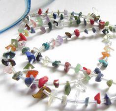 Edelstein-Brillenkette bunt  von soschoen auf DaWanda.com