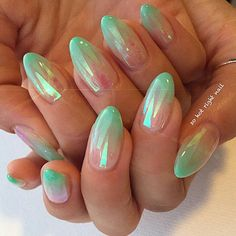 Loving these by @sohotrightnail #nails #sohotrightnail #mermaid #mermaidnails