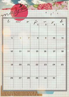 imprimible: calendario de mayo