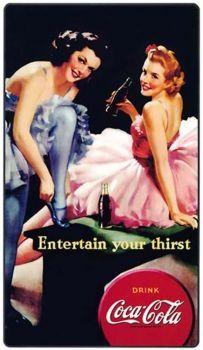 Vintage Coca-Cola Two Dancers Coca Cola Poster, Coca Cola Ad, Always Coca Cola, World Of Coca Cola, Coca Cola Vintage, Vintage Ads, Vintage Posters, Vintage Artwork, Vintage Images
