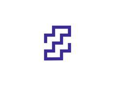 Z  stairs letter mark / logo design symbol by Alex Tass #Design Popular #Dribbble #shots