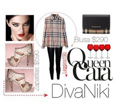 """""""QUEEN CARA"""" by divanikii on Polyvore featuring Burberry, women's clothing, women's fashion, women, female, woman, misses and juniors"""