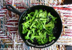 Fragrant Sautéed Broccoli from the Shrinking Kitchen- simple side dish Broccoli Dishes, Veggie Side Dishes, Broccoli Recipes, Veg Recipes, Side Dish Recipes, Recipies, Healthy Recipes For Weight Loss, Clean Eating Recipes, Healthy Food