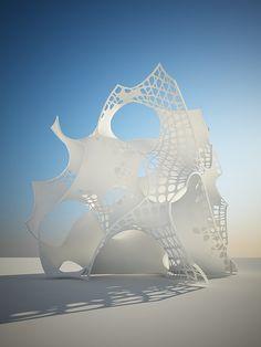 the gyroid... Movement Architecture, Parametric Architecture, Parametric Design, Concept Architecture, Architecture Details, Architecture Diagrams, Architecture Portfolio, Steampunk Furniture, Artistic Installation