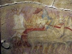Produzione greca o magnogreca, sarcofago delle amazzoni, 350-325 a.C. ca, da tarquinia.