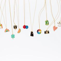 Our 22k gold pendants are best worn ALL AT ONCE! // Yellow Owl Workshop