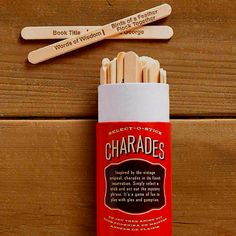 Charades Popsicle Sticks :)