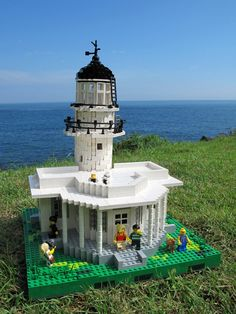 Backside of the Lego lighthouse.