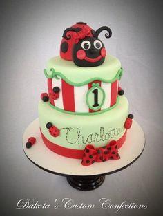 Ladybug birthday cake  Cake by Dakota's Custom Confections