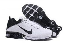 0eca69cbe15c Nike Air Shox Flyknit White Black Shox R4 Men s Athletic Running Shoes Nike  Shox