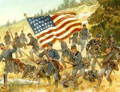 ACW Union: The Twentieth Maine Gettysburg, Pennsylvania -- July 2, 1863 by H. Charles McBarron.