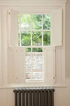 HAUS timber-shutters-and-windows. Wooden Window Shutters, Diy Shutters, Wooden Windows, Diy Interior Window Shutters, Cottage Shutters, Cottage Exterior, Georgian Interiors, Georgian Homes, Sash Windows