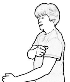 3. Tap with a loose fist (as if holding a raw egg). Make sure your wrist is very relaxed.