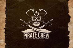 Pirate Crew Logo by DreamBikeShop on @creativemarket
