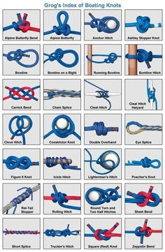 Knot-tying tutorials for every type of knot. Pictures for each step. Great for home projects, decorating, crafts, etc.