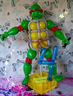#черепаха ниндзя#фигуры из шаров#воздушные шары#черепаха из шаров