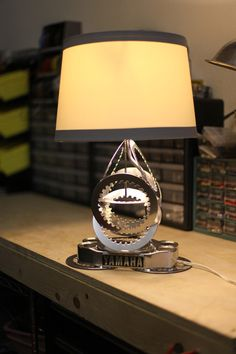 Re Cycle D Vintage Yamaha XS650 Motorcycle Parts Table Lamp