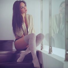 Cold nights ahead...can hardly wait .. thigh high socks