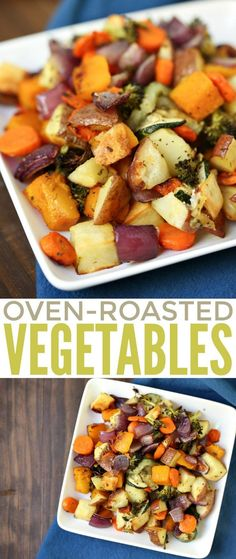 Oven-Roasted Vegetables are a delicious side dish staple your family can enjoy all year round as part of your dinner menu. It's a healthy and super delicious way to get your veg in! == while this bakes, grill some chicken breasts, dinner, easy peasy == :) Vegetarian Recipes, Cooking Recipes, Healthy Recipes, Grilling Recipes, Keto Recipes, Vegetarian Grilling, Healthy Grilling, Vegetarian Dinners, Bacon Recipes