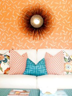 Tangerine is an ideal late-winter shade because of its unparalleled ability to brighten a room. Simultaneously masculine and feminine, this underused hue looks divine with gray and alongside cool, deep blues and greens. Inspiration: Add a Tangerine Twist to Your Decor