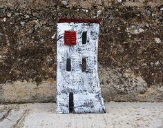Paper Mache House Little Paper House Paper Sculpture by irineART