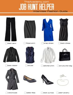 interview+outfits+for+women | ... TheAcademy.com's Job Hunt Helper: Interview Fashion Guide for Women