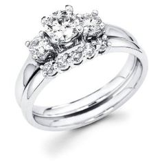 Not my ring, but looks just like it... this proves there actually are wedding bands that will look nice with it. ;)