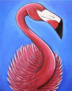 """Saatchi Online Artist William Thomas Farago; Painting, """"Flamingo#4"""" #art"""