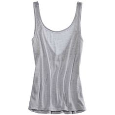 Aerie Summer Love Tank ($12) ❤ liked on Polyvore featuring tops, shirts, tank tops, tanks, blusas, slab grey, gray tank top, lace trim tank, gray shirt and summer tank tops