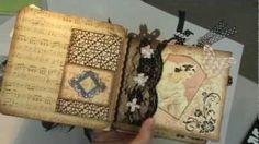 Scrapbook Mini Album: Graphic 45 Le Romantique, via YouTube Timeforscrappin