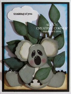 Alex's Creative Corner: Koala Punch Art Card