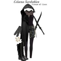 Celaena Sardothien Assassin Inspired Outfit by storybooklooks on Polyvore featuring moda, Paige Denim, Cole Haan, ASOS, Nialaya, Lanvin and Holster