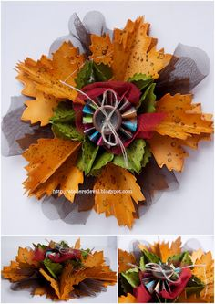 ornament made with leaves