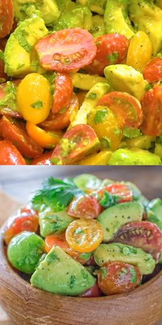 Healthy and so flavorful, this Avocado Tomato Salad makes a great addition to yo. Healthy and so flavorful, this Avocado Tomato Salad makes a great addition to your dinner or lunch. This is one of t Salad Recipes Healthy Lunch, Salad Recipes For Dinner, Chicken Salad Recipes, Vegan Dinner Recipes, Avocado Recipes, Keto Recipes, Marinated Tomato Salad Recipe, Lunch Recipes, Tomato Salad Recipes