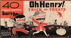 Vintage Halloween OH HENRY! CANDY BOX late1940s Good Condition SUPER CUTE