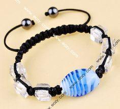 45mm Multi-color Jewelry Gift Nylon Lampwork Hematite Bracelets