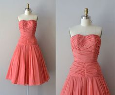 Something similar maybe for my Sister's Wedding? -- 1950s dress / vintage 50s dress / Unforgettable von DearGolden, $345.00