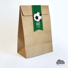 Saco Kraft para lembranças Futebol #brindedesaída #lembrancinha #festaFutebol #festaInfantil