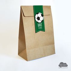 Saco Kraft para brindes de saida e lembrancinhas Futebol