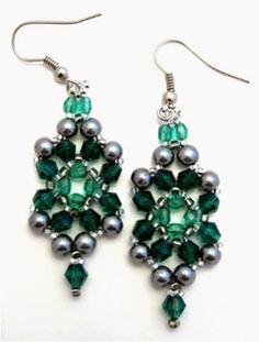 Free beading pattern. Bead Designs by Yvonne King: Be Jeweled Earrings Bead Pattern