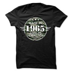 MADE IN 1965 AGED TO PERFECTION ARMY DESIGN T Shirt, Hoodie, Sweatshirt