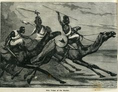 An engraving of some of the Sudanese tribesemen who supported the Mahdi against the British in the Mahdi rebellion of 1881